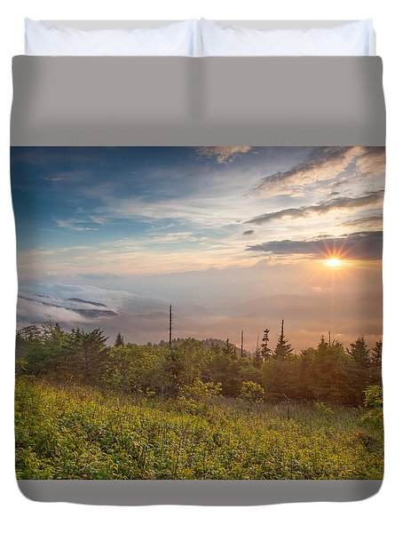 Duvet Cover featuring the photograph Serenity by Doug McPherson
