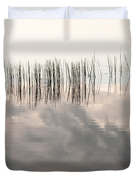 Serenity Dwells Here Where Tranquil Water Flow Cloaked  In Hues Of Love Duvet Cover