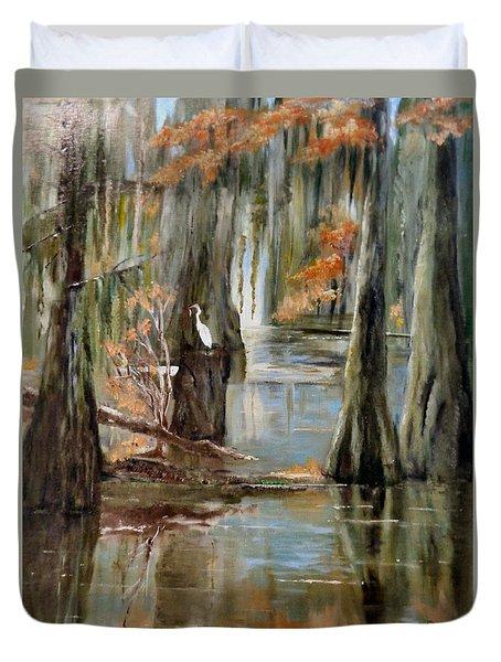 Serenity In The Swamp Duvet Cover