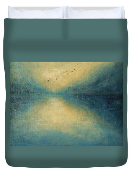 Duvet Cover featuring the painting Serenity by Jane See