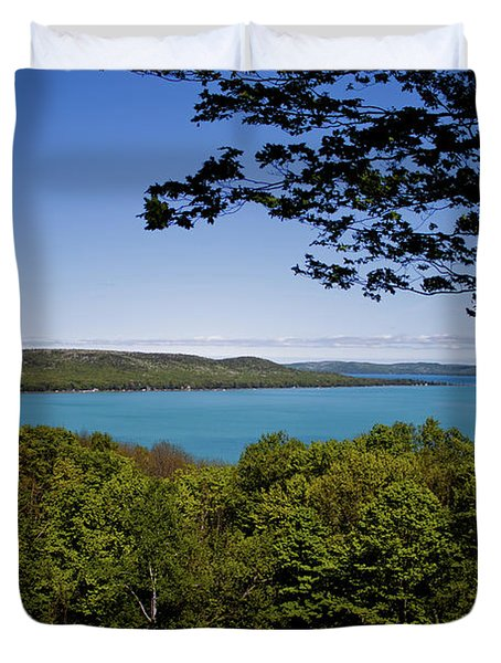 Duvet Cover featuring the photograph Serenity by Joann Copeland-Paul