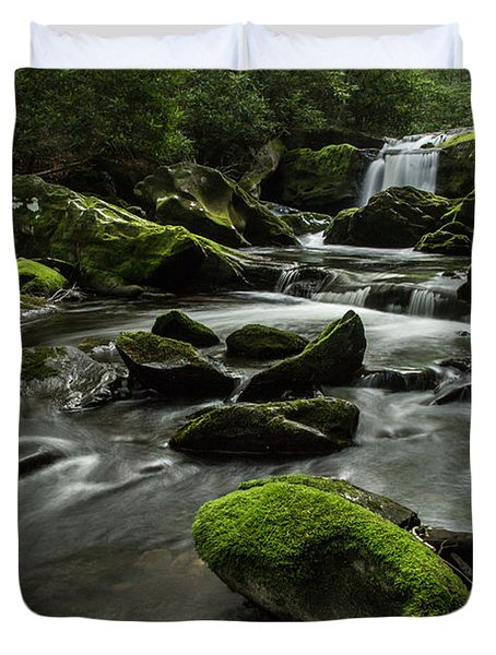 Duvet Cover featuring the photograph Serenity  by Julie Andel