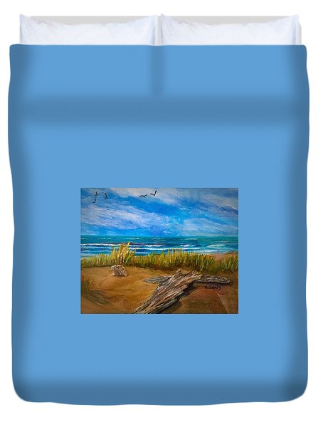 Serenity On A Florida Beach Duvet Cover