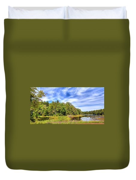 Duvet Cover featuring the photograph Serenity On Bald Mountain Pond by David Patterson