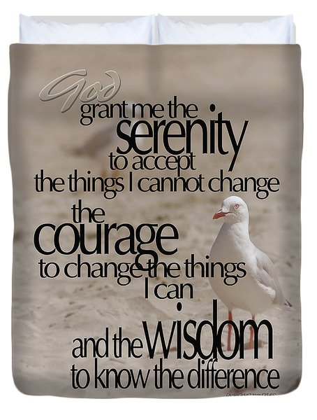 Serenity Prayer 01 Duvet Cover by Vicki Ferrari