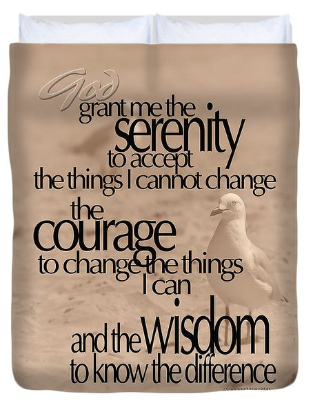 Serenity Prayer 04 Duvet Cover by Vicki Ferrari