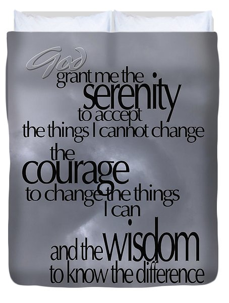 Serenity Prayer 05 Duvet Cover by Vicki Ferrari
