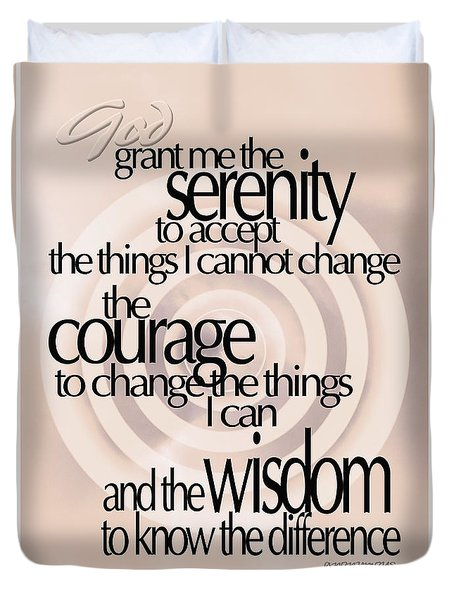 Serenity Prayer 06 Duvet Cover by Vicki Ferrari