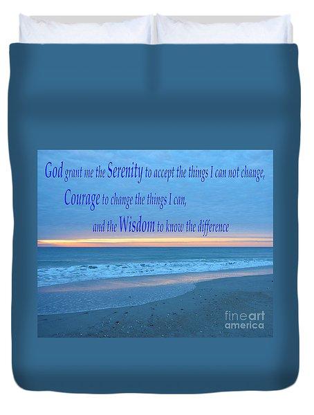 Serenity Prayer-1 Duvet Cover