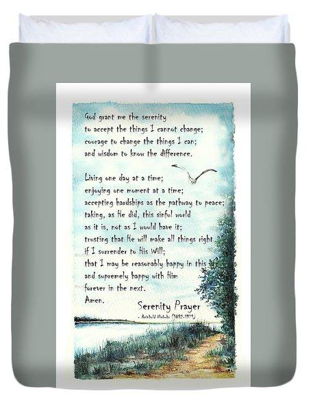 Serenity Prayer The Full Version Duvet Cover
