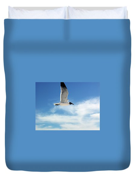 Serenity Seagull Duvet Cover by Marie Hicks