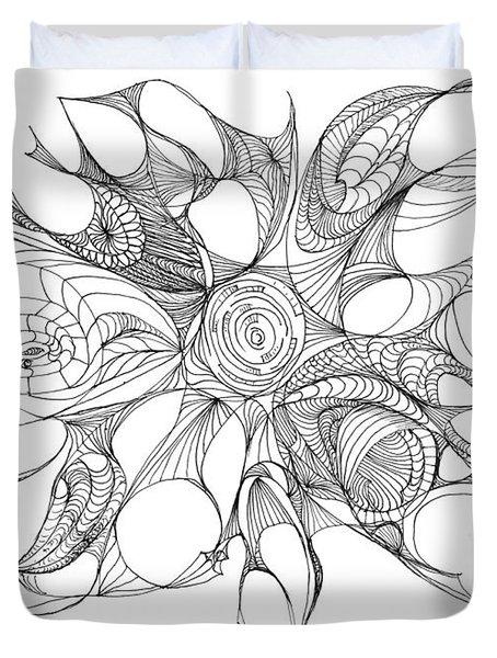 Serenity Swirled Duvet Cover