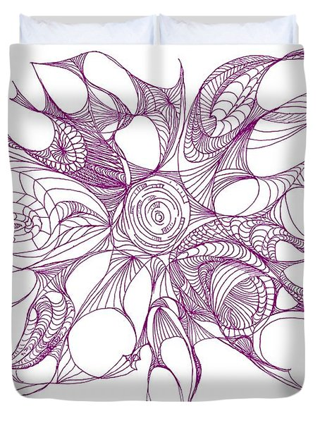Serenity Swirled In Purple Duvet Cover