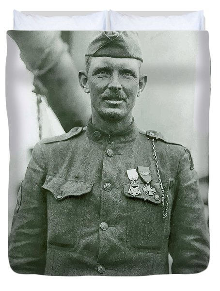 Sergeant Alvin York Duvet Cover by War Is Hell Store