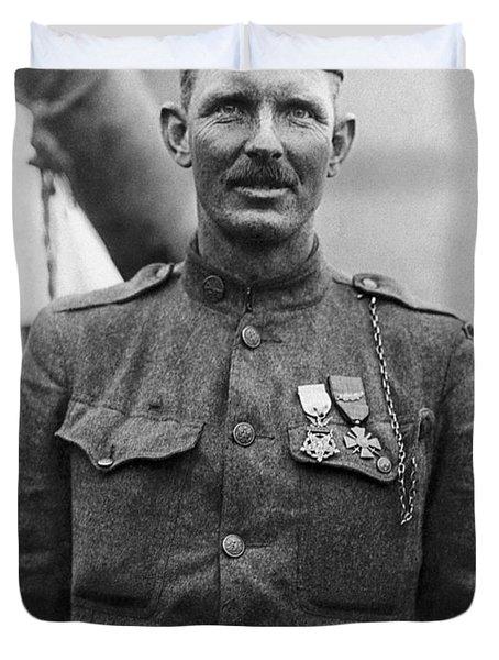 Sergeant York - World War I Portrait Duvet Cover