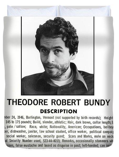 Serial Killer Ted Bundy Duvet Cover