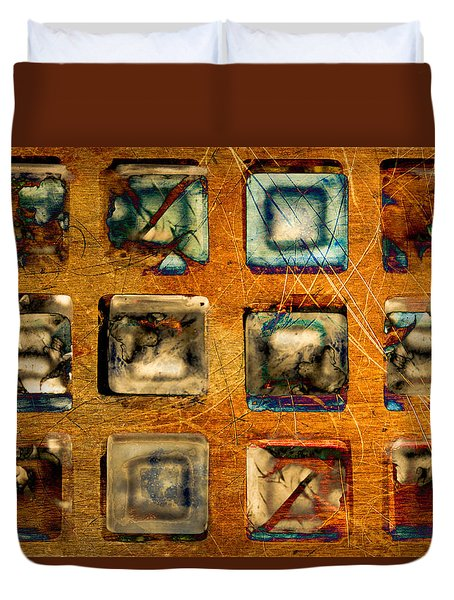 Serial Variation Duvet Cover by Don Gradner