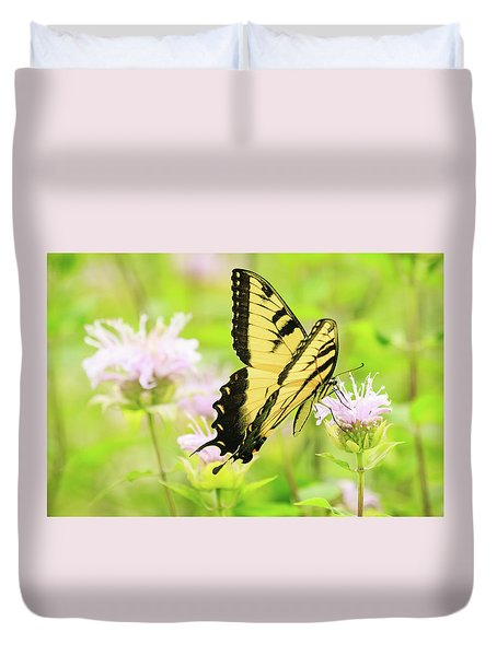 Series Of Yellow Swallowtail #4 Of 6 Duvet Cover