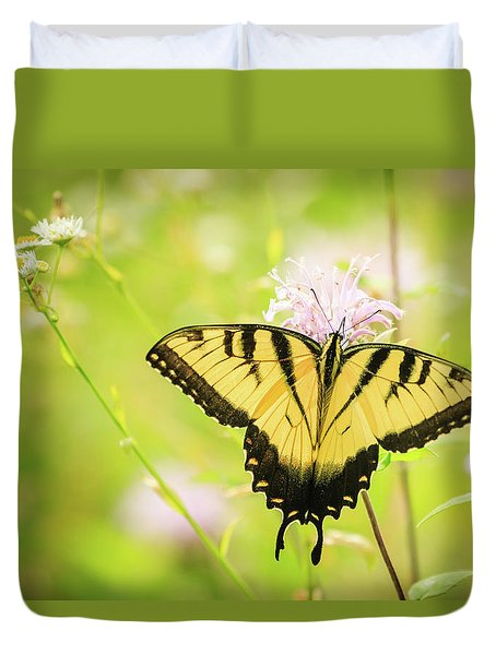 Series Of Yellow Swallowtail #6 Of 6 Duvet Cover