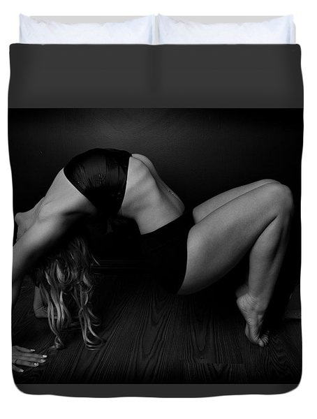 Serious Back Bend Duvet Cover