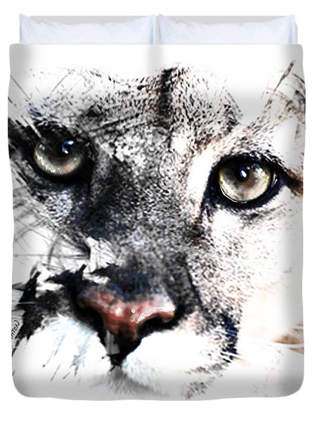Seriously Cougar Duvet Cover