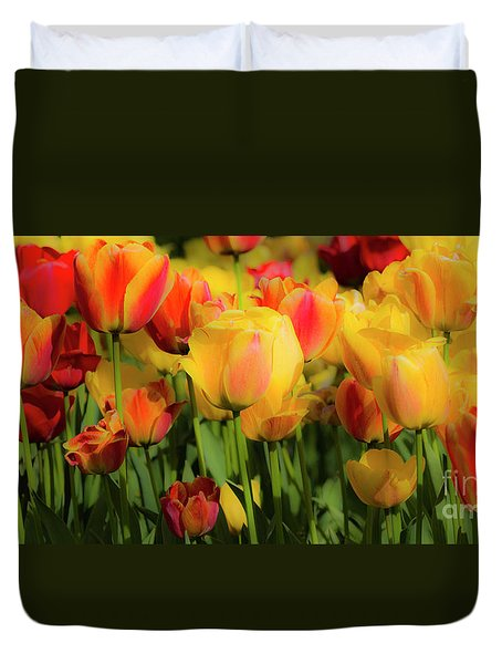 Duvet Cover featuring the photograph Seriously Spring by Wendy Wilton