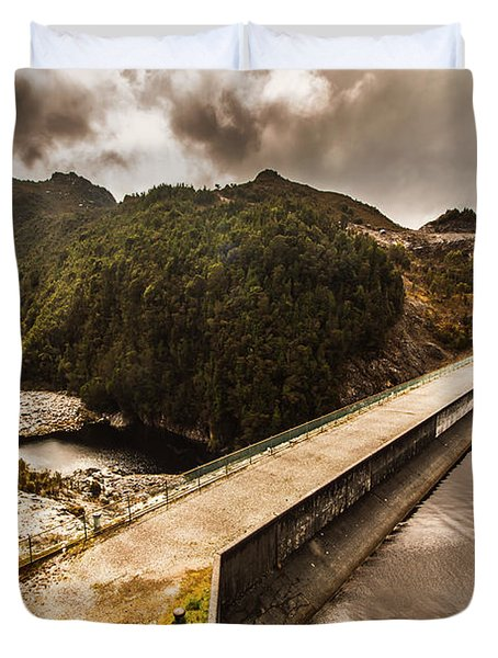 Serpentine River Crossing Duvet Cover