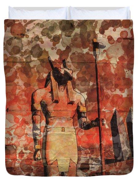 Set, Egyptian God By Raphael Terra And Mary Bassett Duvet Cover