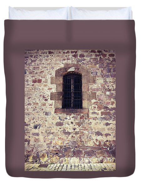 Duvet Cover featuring the photograph Set In Stone by Colleen Kammerer