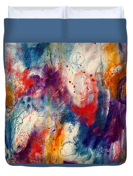 Duvet Cover featuring the painting Set Me Free by Tracy Bonin