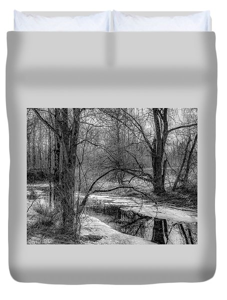 Duvet Cover featuring the photograph Set On Defrost by Kendall McKernon