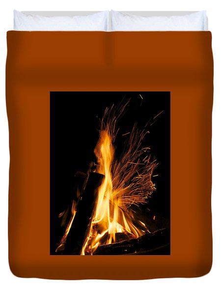 Set The Night On Fire Duvet Cover