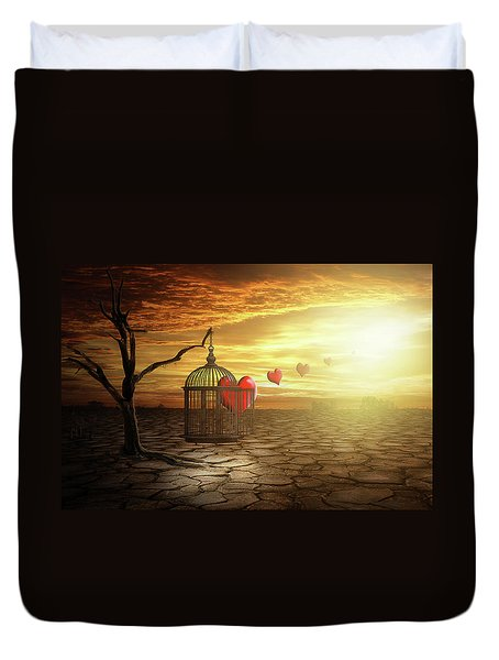Duvet Cover featuring the digital art Set Your Self Free by Nathan Wright