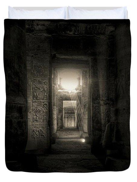 Seti I Temple Abydos Duvet Cover