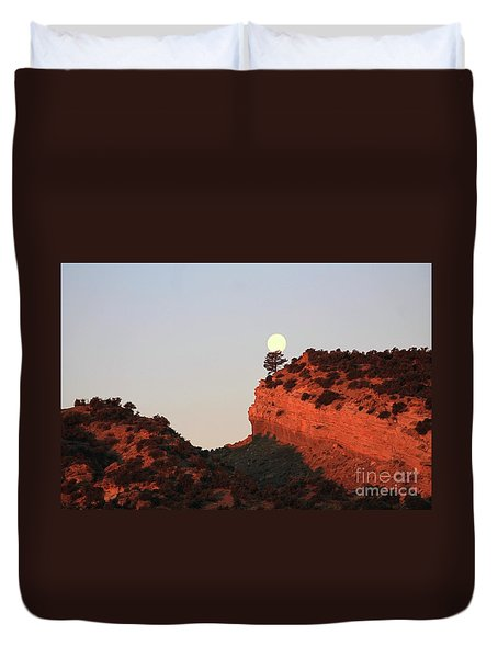 Setting Full Moon Duvet Cover