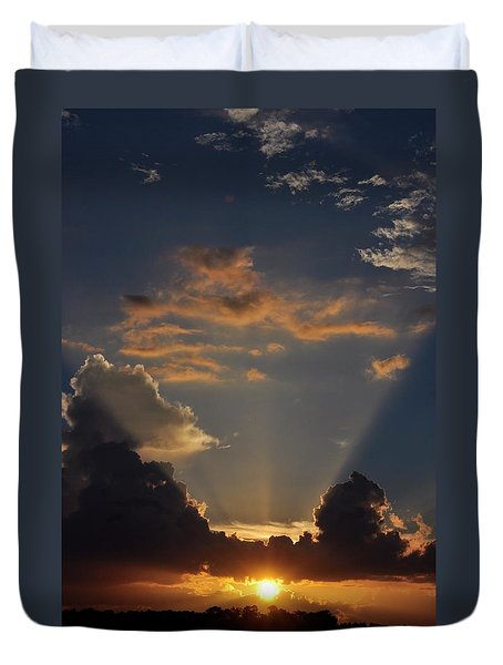 Duvet Cover featuring the photograph Setting Softly by Jan Amiss Photography