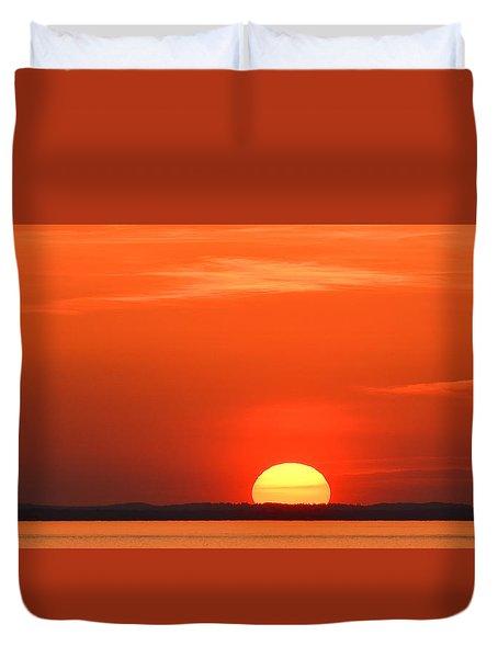 Setting Sun Halibut Pt. Duvet Cover by Michael Hubley