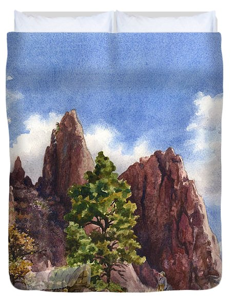 Settler's Park, Boulder, Colorado Duvet Cover