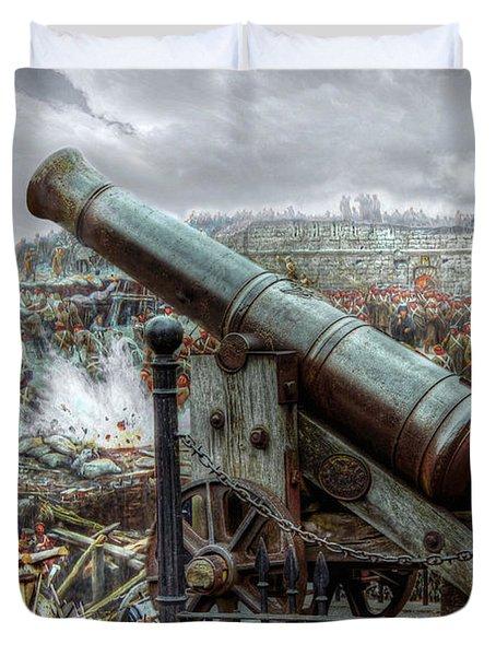 Sevastopol Cannon 1855 Duvet Cover