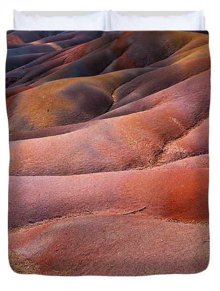 Seven Colored Earth In Chamarel 8. Series Earth Bodyscapes. Mauritius Duvet Cover