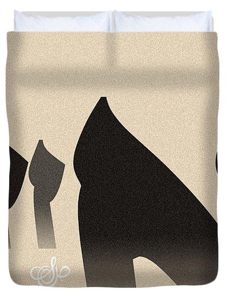 Seven Figures Duvet Cover