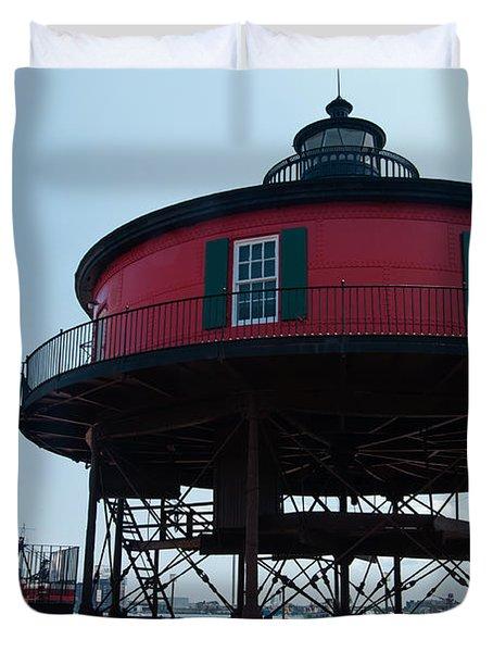 Seven-foot Knoll Lighthouse Duvet Cover