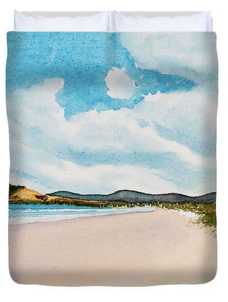 Seven Mile Beach On A Calm, Sunny Day Duvet Cover