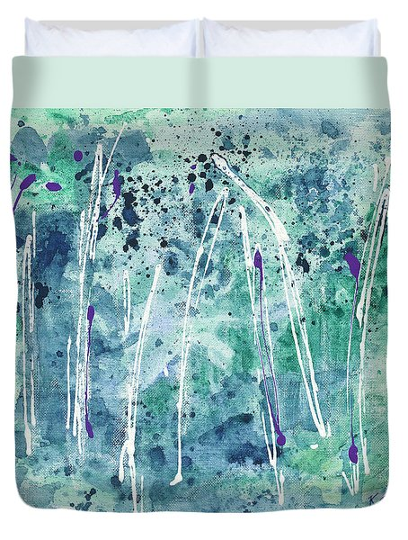 Duvet Cover featuring the painting Seven Sisters by Kathryn Riley Parker