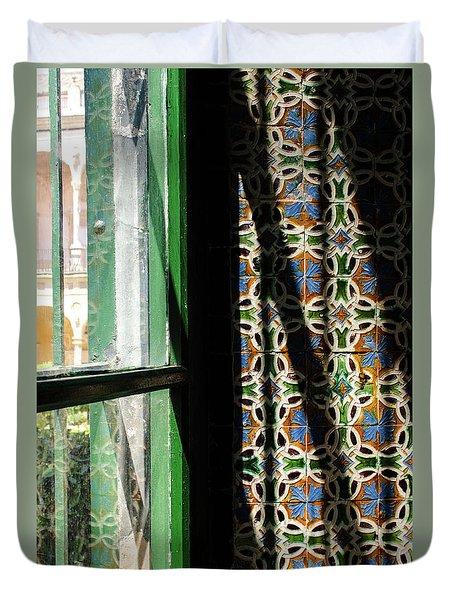Seville - Azulejos Detail Duvet Cover by Andrea Mazzocchetti