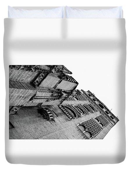 Seville - Giralda In Black And White Duvet Cover by Andrea Mazzocchetti