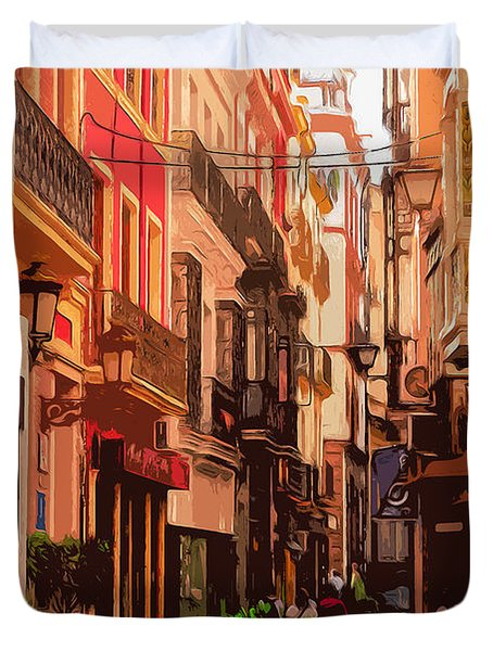 Seville, The Colorful Streets Of Spain - 02 Duvet Cover