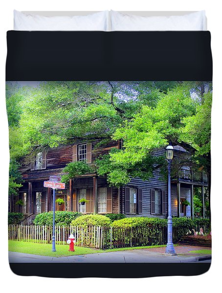 Seville Wooden House Duvet Cover by Faith Williams