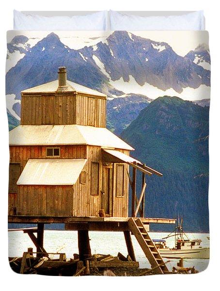 Seward Alaska House Of Stilts Duvet Cover by James BO  Insogna