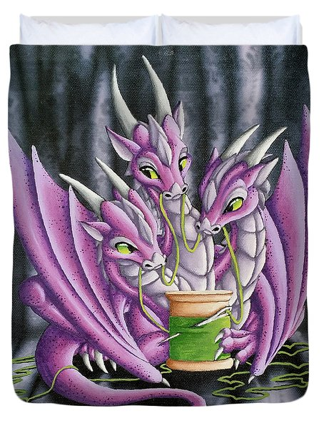 Sewing Dragons Duvet Cover